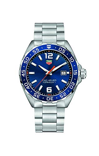 Tag Heuer Mens Quartz Watch, Analog Display and Stainless Steel Strap WAZ1010.BA0842