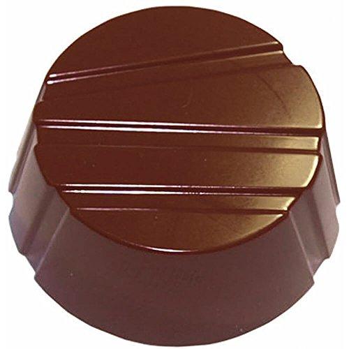 (Matfer Bourgeat Polycarbonate Striped Circles Chocolate Molds, Sheet Of 28 380164)