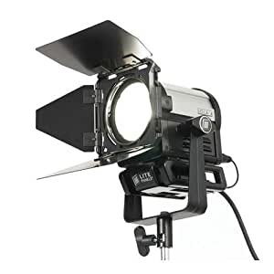 Litepanels Sola 4 DMX Controllable LED Fresnel, with Yoke, Power Supply and Barn Doors