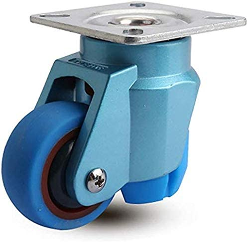 Color : A, Size : 5in Byrhgood Casters 4 PCS Casters Industrial Transport Heavy Duty Fixed Plate Wheel Universal Rotary Brake 4 Piece 3 Inch 75 Mm Long-term Use