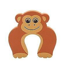 Set of 18 Cartoon Baby Infant Safety Door Doorstop Prevent Nipping Hand(Monkey)