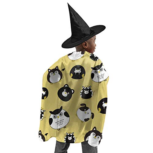 Angry Birds Halloween Costume For Dogs (Kids Halloween Christmas Witch Set with Hat Angry Owl Cat Bear Seals Wizard Cloak with Hats Witch Cosplay Costumes Cape Sets for Children Child Girls Boys Party)