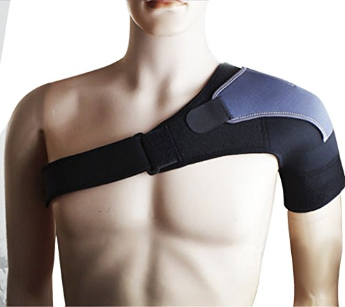 Joint Compression Adjustable Right/Left Shoulder Brace Sports GYM Basketball Fitness Shoulder Protector Armor Brace Wrap Belt Pad Rotator Cuff Injury Dislocation Arthritis Pain Shoulder Support Strap (Frozen Seat Belt Shoulder Pads compare prices)