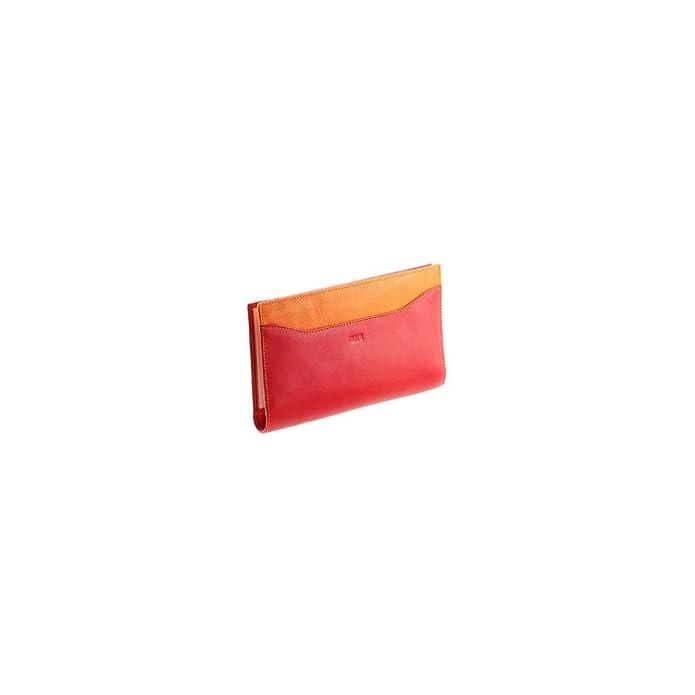 8f94a00abc82b Ideale Tür chéquier N1547 Damen-Geldbörse Leder rot-Orange  Amazon.de   Schuhe   Handtaschen