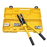 TG888 Hydraulic Wire Crimper 16 Ton Crimping Tool Battery Cable Lug Terminal With 11 Dies