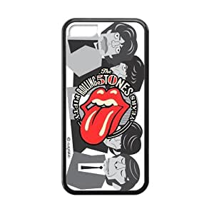 Zyhome iPhone 5C Funny The Rolling Stones Pattern Case Covers for iPhone 5C TPU (Laser Technology)