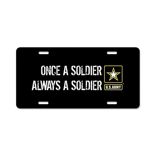 CafePress - U.S. Army: Once A Soldier A - Aluminum License Plate, Front License Plate, Vanity - Army Plate License Retired