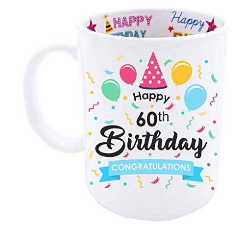 (60th Birthday Gift for Men Happy Birthday Coffee Mug)