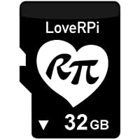 LoveRPi 32GB Raspbian Plug and Play UHS-I MicroSD Card...
