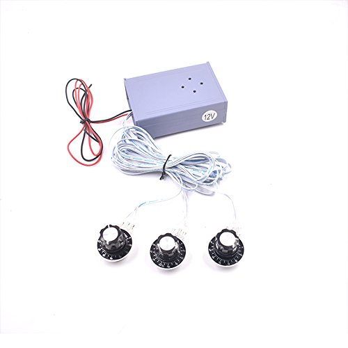BearHoHo Escape Room Props Puzzles 3 Rotary Knobs with Graduate Control 12V EM Lock(not included) Escape Room the Game Expansion