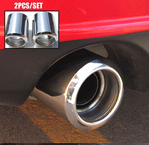 Exterior Parts 2Pc S'Steel Exhaust Tip For Mazda 6 2009- Cx-5 Cx5 2013-2017 For Mazda 3 Muffler Pipe Tailpipe End Trim Chrome Cover 2016-2014