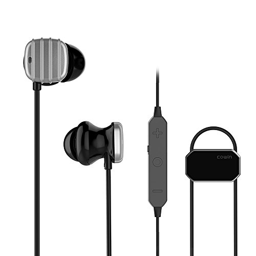 COWIN HE8D Active Noise Cancelling Bluetooth Earbuds, Wireless In-Ear Bluetooth Headphones with Hard Travel Case Built in Microphone Volume Control Enhanced Bass Ear buds- Sliver by COWIN (Image #8)
