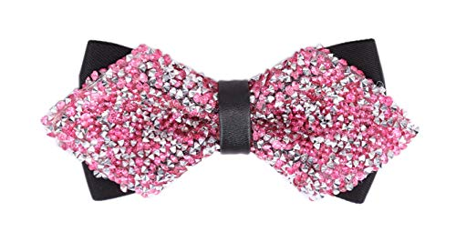 Men's Pink Silver for Wedding Party and Other Occasions Classic Formal Bow Ties