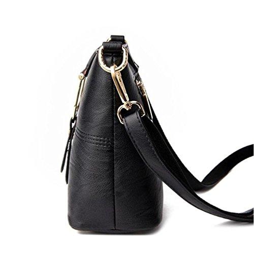 Ladies Bag Simple Bolso Bolso Fashion Black Hombro De KYOKIM Bucket Del 7xFnHfHac