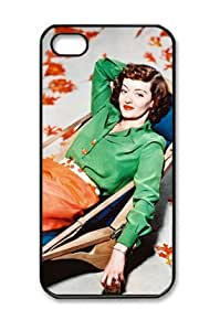 Bette Davis American Actress009 Iphone 5/5S Black Sides Hard Shell PC Case by eeMuse