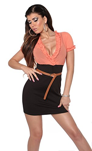 In-Stylefashion - Vestido - para mujer Coralschwarz