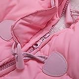 TeenMiro Baby Winter Jumpsuit Newborn Fleece Romper Infant Snowsuit Pattern 6-9 Months Pink