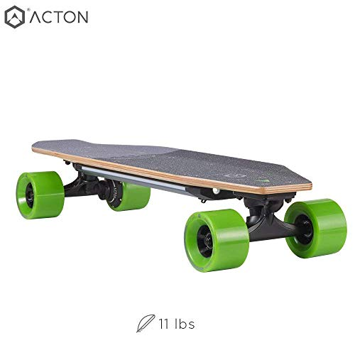 ACTON Blink S-R | New 2018 Model | Powerful Electric Skateboard for College | 7 Mile Range | 16 MPH Top Speed | with LED Lights | 3 Ride Modes | Bluetooth Remote Control Included