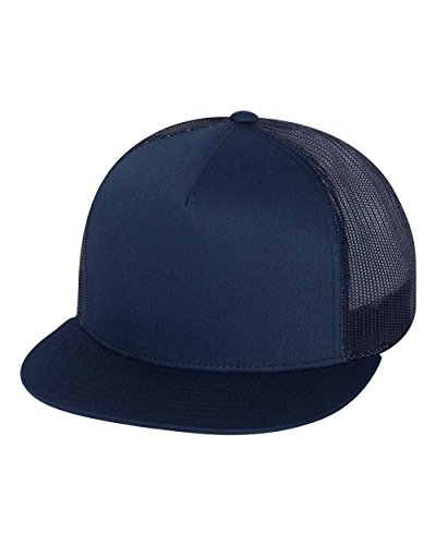Yupoong Five-Panel Classic Trucker Cap. 6006 - Navy (Hats For Cheap)