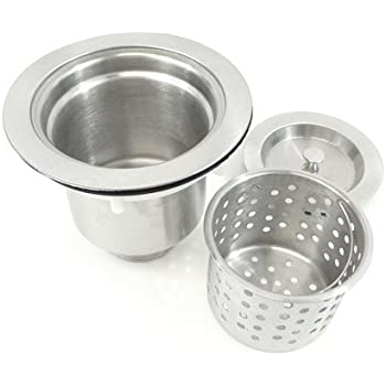 Brushed Stainless Steel Kitchen Bar Sink Basket Strainer