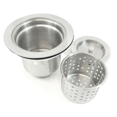 Brushed Stainless Steel Kitchen/Bar Sink Basket Strainer with Lift Out Basket