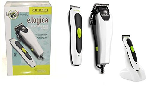 Andis 65465 pro professional e.logica Clipper Trimmer combo, Dual voltage 110-220v Cord (And Is T-edjer Trimmer)