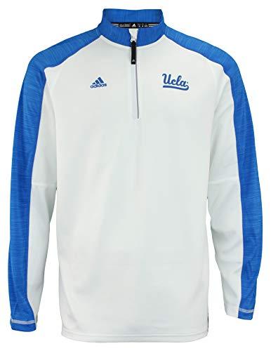 UCLA Bruins adidas 2016 Football Coaches 1/4 Zip Jacket - White (Large) - Rush Hoody Full Zip