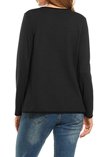 Automne Cardigan manteau Tops Automne ouvert Blazer Pull court Noir veste Cardigan Bolero xeordCB