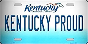 Kentucky Proud Novelty Metal License Platefor Home / Man Cave Decor by PrettyMerchant