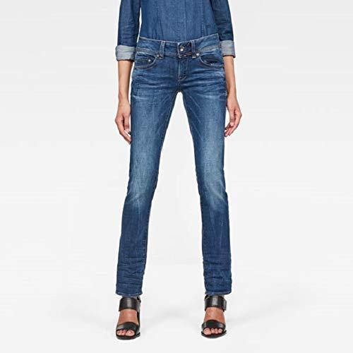 TALLA 31W / 30L. G-STAR RAW Midge Saddle Mid Waist Straight Jeans para Mujer