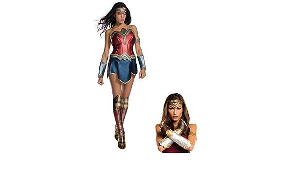 Women/'s Wonder Woman Superhero Costume Warrior Corset Briefs Gloves Headband