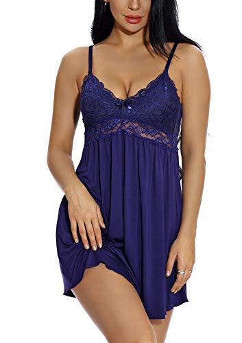 KANILU Womens Strapless Chemise Sleepwear for Women Sexy