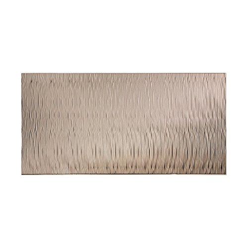 Fasade Waves Vertical Brushed Nickel 4-Foot x 8-Foot Wall Panel 4 x 8 ()