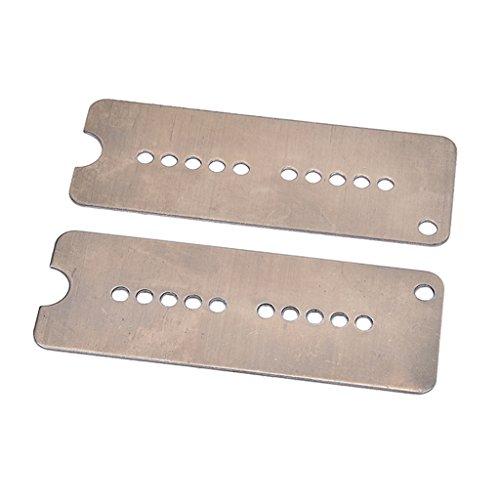 Baoblaze Durable 2PCS Cupronickel Neck+Bridge P90 Soap Bar Style Pickup Baseplate for Electric Guitar Parts DIY