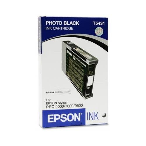 Epson 110ML ULTRACHROME Photo Black Ink Cartridge for PRO 4000, 9600 - Inkjet T543100