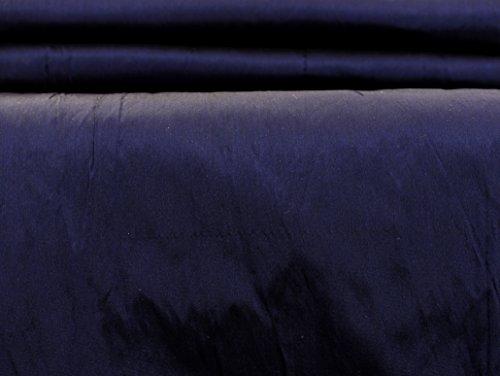 HANDICRAFT-PALACE 40 Mm Heavy Weight Navy Blue Silk Taffeta Fabric 60