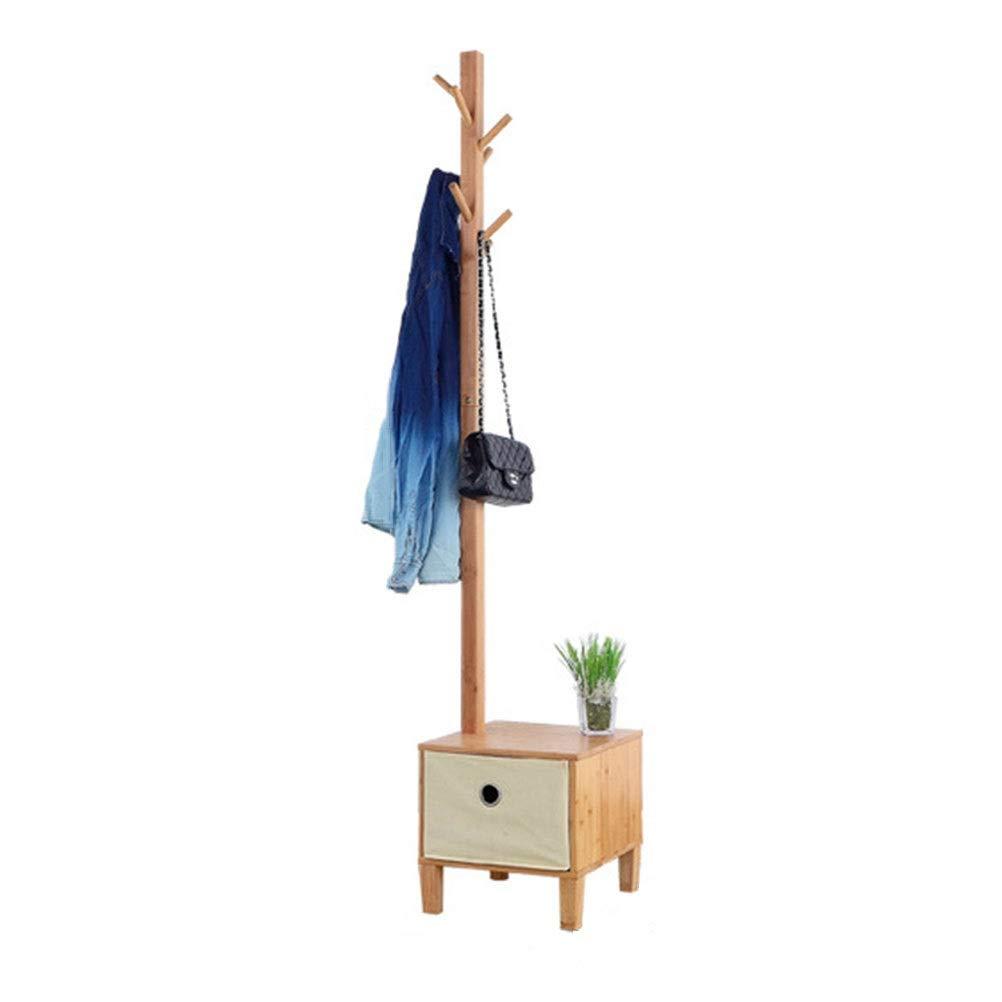 コートハンガー 竹コートスタンドシンプルハットコートラック木製服ラック寝室現代の床ハンガー服ツリーリビングルームオフィス2 in 1 Amazonより   B07QCTS427