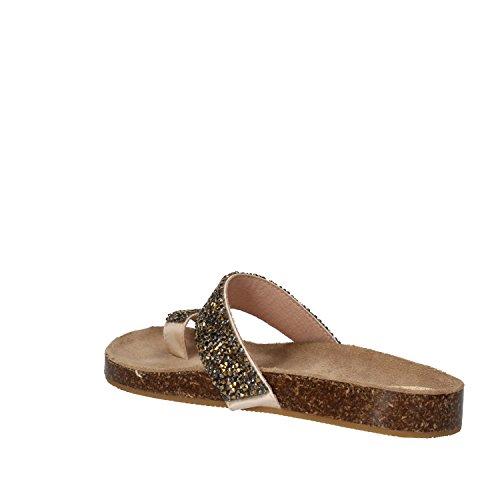 BIBI LOU sandali donna bronzo tessuto strass AF894