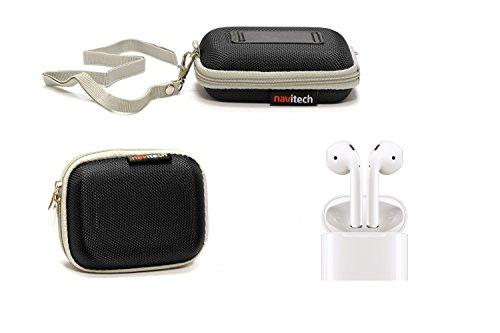 Navitech Black Hard Protective Earphone / Headphone Case for