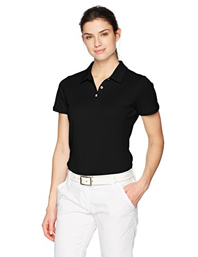 (adidas Golf Tournament Short sleeve Polo, Black, Large)