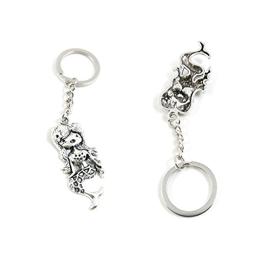 100 PCS Mermaid Keychain Keyring Jewelry Making Charms Door Car Key Tag Chain Ring K6DD2L by ChinaTownUS