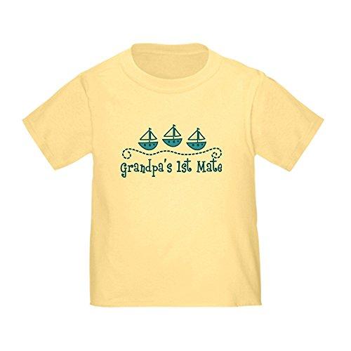 CafePress Grandpas 1st Mate Toddler T-Shirt Cute Toddler T-Shirt, 100% Cotton Daffodil Yellow