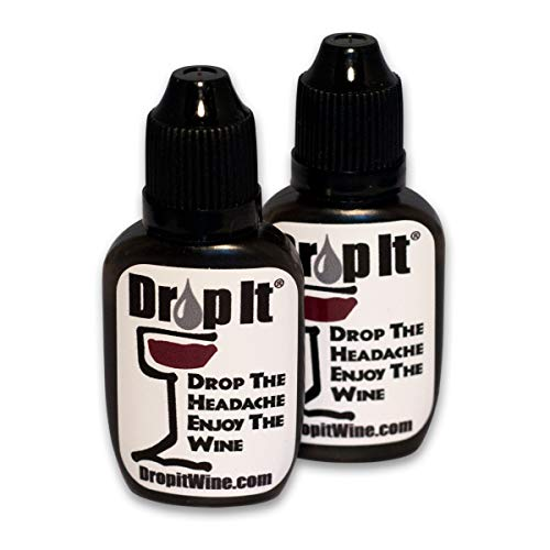 Drop It the Only Natural Sulfite and Tannin Removal Drops for Wine 10ml 2 Pack by Drop It Drop The Headache Enjoy The Wine