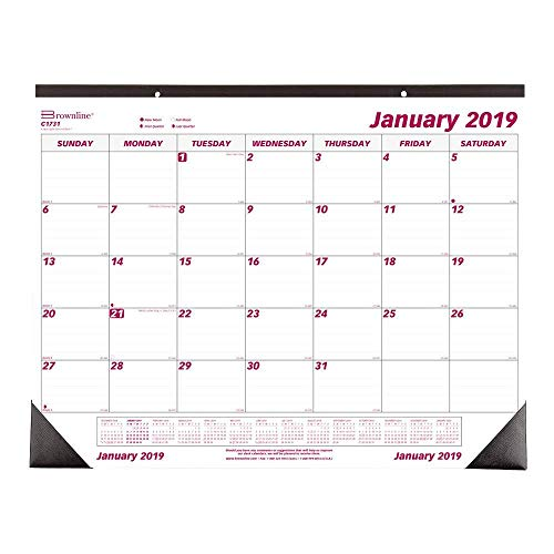 Large Product Image of Brownline 2019 Monthly Desk Pad Calendar, 22 x 17 inches (C1731-19)