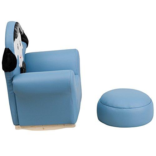 22'' Kids Blue Little Boy Rocker Chair & Footrest (1 Set) by Miller Supply Inc