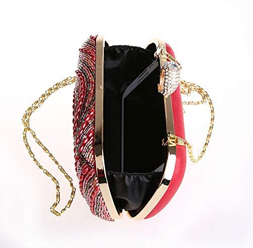 métalliques de Noir Sac Parti Jours fériés Et Cheongsam d'autres 20x13x5cm soirée Enveloppe Perles Noir Handmade Sac pour Femme 8x5x2inch Paillettes Bal RYPqdwY5