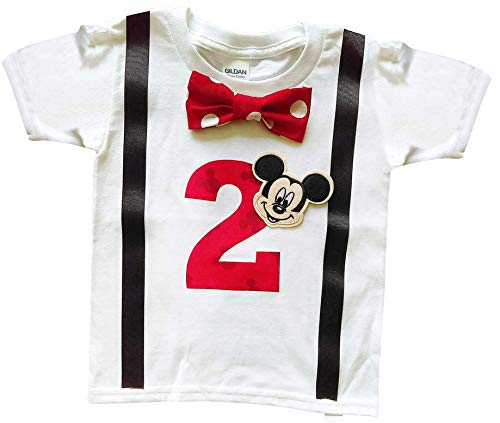 2nd Birthday Shirt Boys Mickey Mouse Tee -