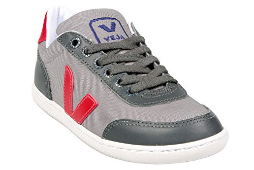 VEJA Grama Grey London Red - Baskets Homme et Femme - Gris/Rouge