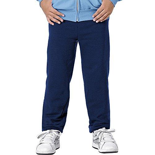 Hanes ComfortBlend Youth Fleece Pant - 7.8 oz, S-Navy