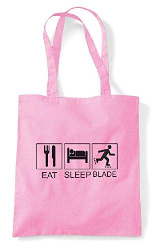 Funny Eat Sleep Pink Tote Hobby Bag Tiles Shopper Activity Light Rollarblade wtOTtqf